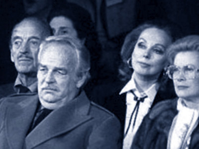 David and Hjordis Niven with Princess Grace and Price Rainier, 1980