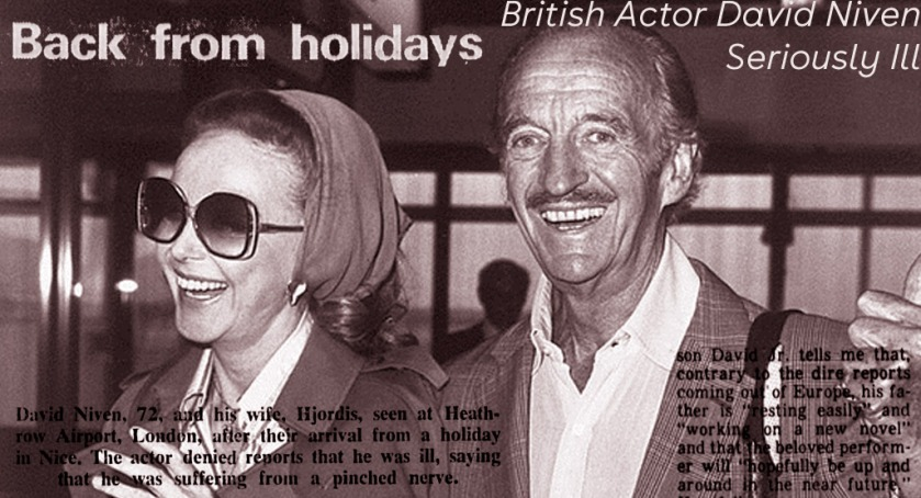 Hjordis and David Niven, 1982