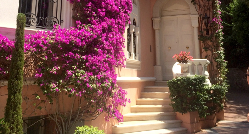 The front door of David and Hjordis Niven's home on Cap Ferrat,