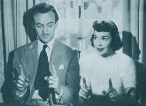 1948, David Niven with Jane Wyman