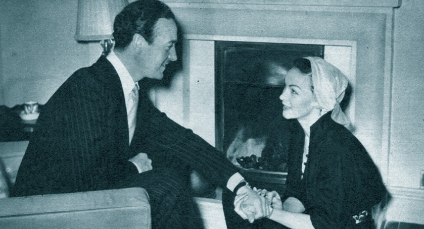 David and Hjordis Niven in London, 1950