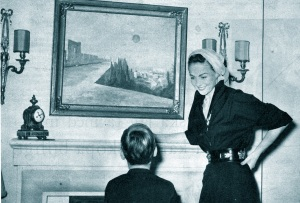 Hjordis Niven with David Jnr, 1950