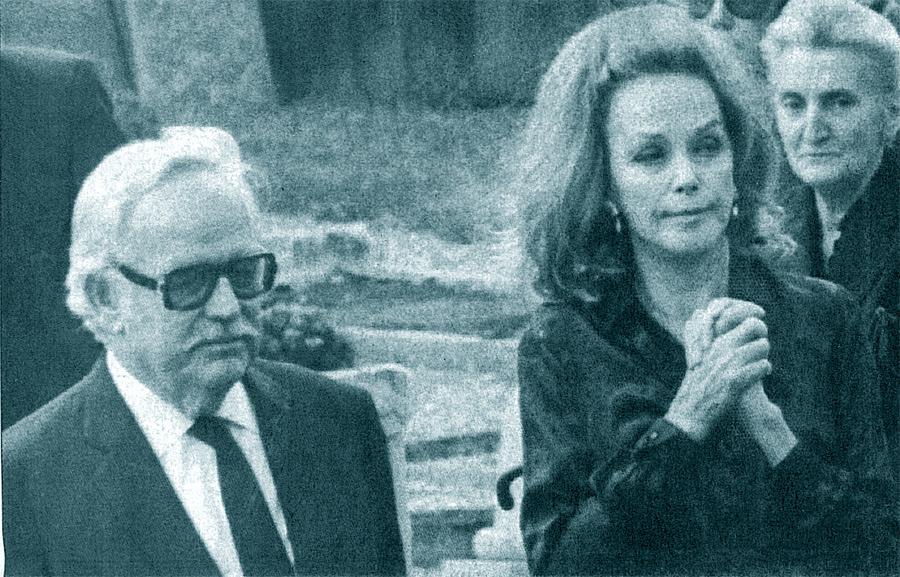 Hjordis Niven with Prince Rainier, August 1983