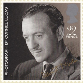 David Niven postage stamp, 1985