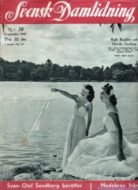 Hjördis Genberg on the cover of Svensk Damtidning. Sweden, 1945
