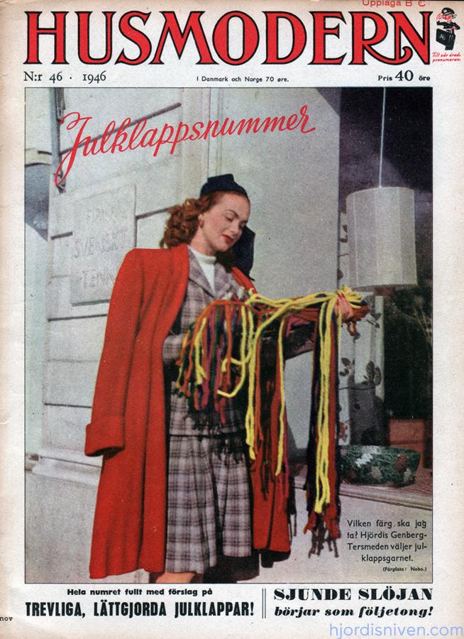 Hjördis Tersmeden on the cover of Husmodern. Sweden, 1946