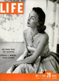 Hjördis Niven on the cover of LIFE magazine, May 1948