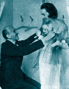 Hjordis Niven with Designer Pelle Lundgren, 1954.