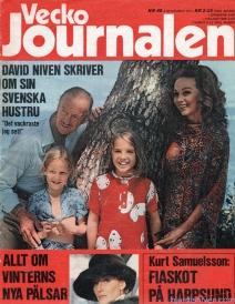 Hjördis Niven on the cover of Vecko Journalen. Sweden, 1971