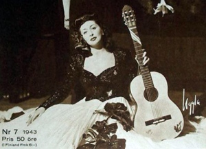 Rosita Serrano on the cover of a Swedish magazine in early 1943.