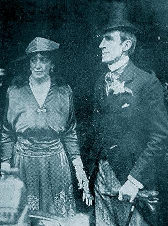 1917 - David Niven's mother with Thomas Comyn Platt