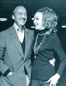 David and Hjordis Niven, London 1971