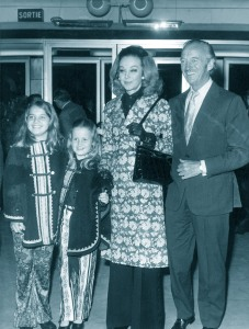 David Niven and his family, 1972