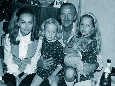 David Niven and family, c.1969