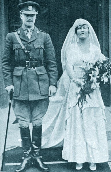 Bill Rollo and Lady Kathleen Hiill wedding, 1917