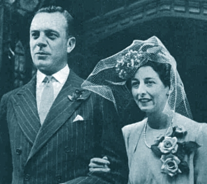 Joyce Niven wedding. Sister of David Niven