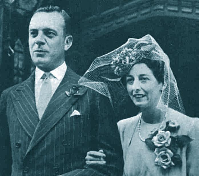 Joyce Niven wedding. Sister of David Niven