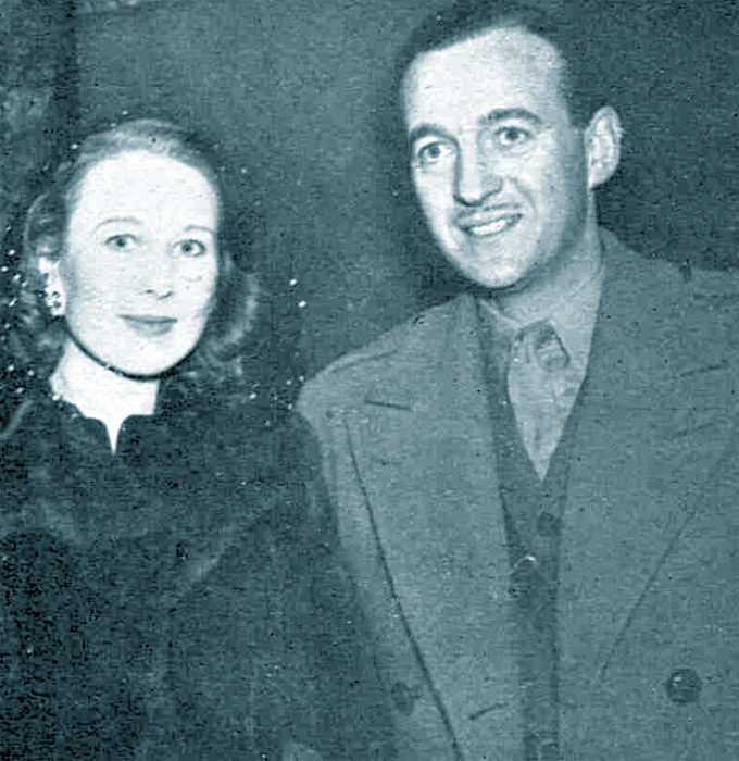 Primmie and David Niven, 1944
