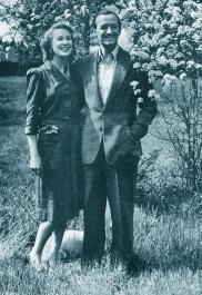 David and Primmie Niven, 1945
