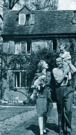 David and Primmie Niven, at home near Windsor, 1945