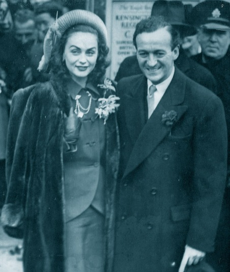 David Niven and Hjordis Genberg-Tersmeden, 1948