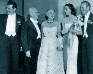 Hjordis and David Niven at the Coronation Ball, Albert Hall, 17th June 1953