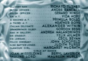 'English with tears' credits, 1944.
