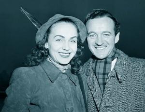 Hjordis and David Niven. New York, 1949