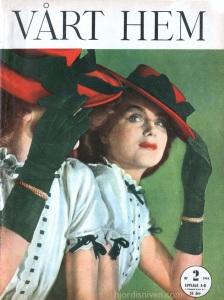 Hjordis Genberg,on the cover of Vart Hem magazine, Sweden. January 1944