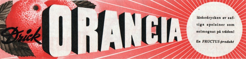 Orancia advert, 1944