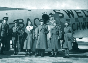 Swedish Red Cross delegation withFolke Bernadotte
