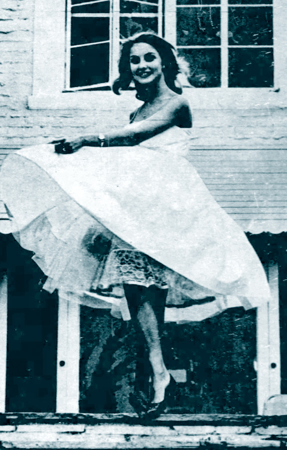 Maj-lis Genberg pictured at The Pink House in March 1960.