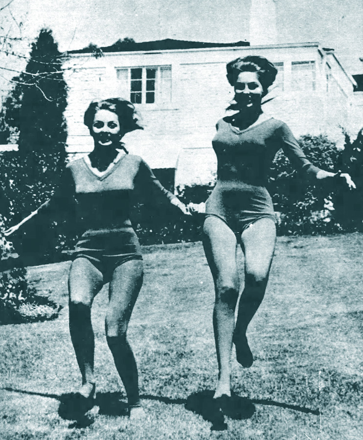 Gudrun and Maj-lis Genberg pictured at The Pink House in March 1960.