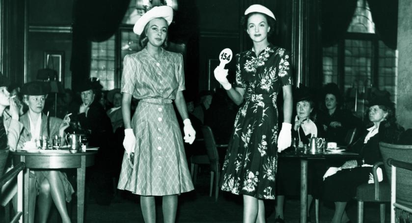 NK Franska models Miss Hammarström and Miss Genberg, 1944. (Does anyone know Miss Hammarström's first name?)