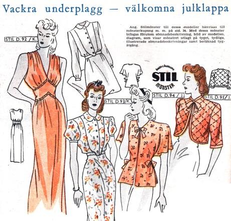 Swedish dress patterns, 1943