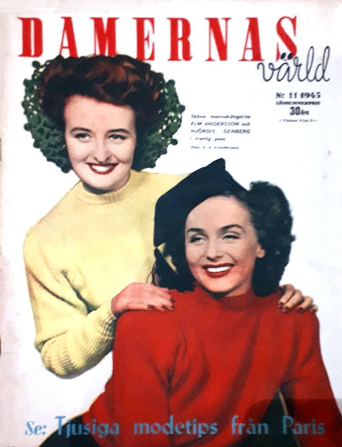 Hjordis Genberg, Damernas Varld, 1945