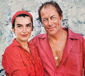 Kay Kendall with Rex Harrison, 1957