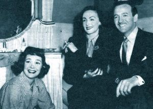 Hjordis and David Niven with Jane Wyman