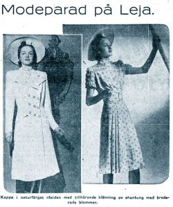 Hjördis Genberg's first appearance in the Leja store's advertising. April 1942