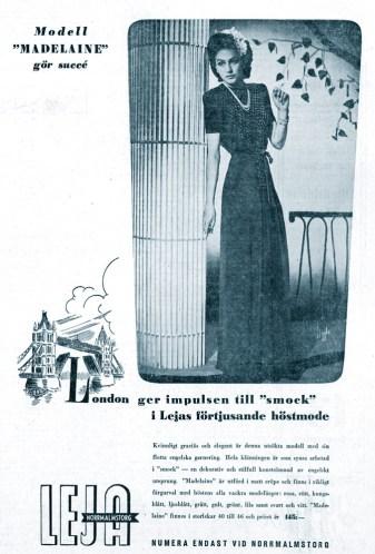 One of Hjördis Genberg's last Leja advertising shots, from August 1943