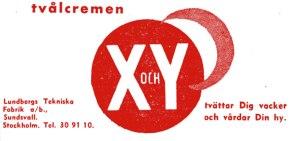 X och Y skin cream advert, 1937