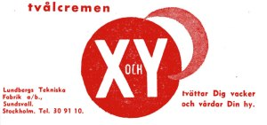 X och Y skin cream advert, 1937