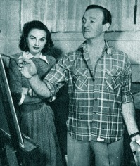 David Niven painting in 1948-1949