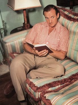 David Niven at the PInk House, 1949