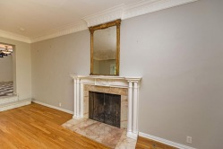 The marble fireplace and mirror - still there in 2018