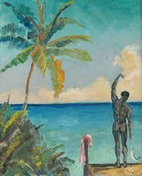 David Niven painting, 1955