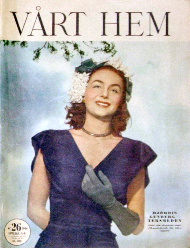 Hjordis Genberg-Tersmeden on a magazine cover in 1946