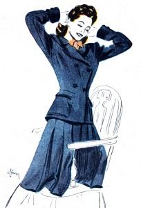 Hjördis Tersmeden. NK suit, 1945