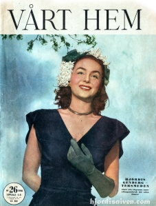 Hjordis Genberg-Tersmeden on a magazine cover in 1946, as a celebrity ex-model.