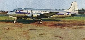SAS DC-4 at La Guardia field